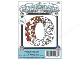"yarn & needlework: Design Works Zenbroidery Fabric 5""x 5"" Letter O"