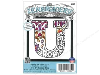 "yarn & needlework: Design Works Zenbroidery Fabric 5""x 5"" Letter U"