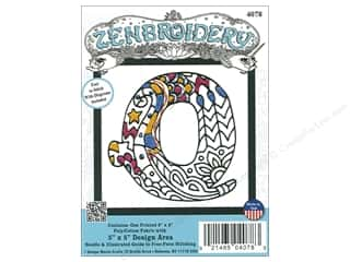 "yarn & needlework: Design Works Zenbroidery Fabric 5""x 5"" Letter Q"