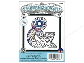 "Design Works Zenbroidery Fabric 5""x 5"" Symbol &"