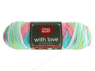 discontinued red heart yarn: Red Heart With Love Yarn 223 yd. #1973 Candy Stripe