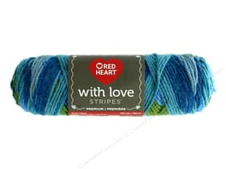 yarn: Red Heart With Love Yarn 223 yd. #1974 Rainforest Stripe