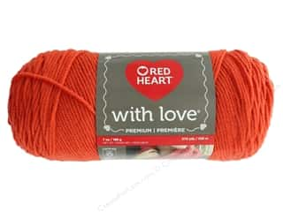 Red Heart With Love Yarn 370 yd. #1971 Tigerlily