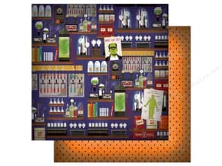 """Carta Bella Collection Haunted House Paper  12""""x 12"""" Mad Scientist's Laboratory (25 pieces)"""