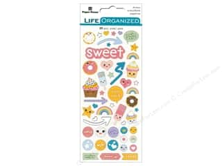 Paper House Collection Life Organized Sticker Puffy Kawaii Fun