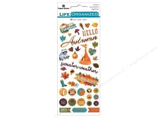 stickers: Paper House Collection Life Organized Sticker Puffy Autumn Woods