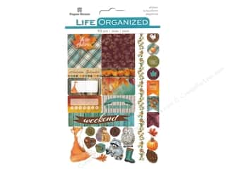 Paper House Collection Life Organized Planner Sticker Autumn Wood Fun