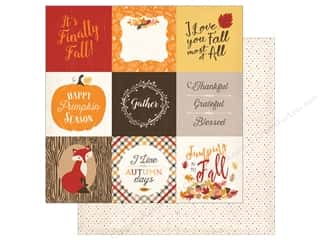 """Carta Bella Collection Hello Fall Paper 12""""x 12"""" Journal Card 4""""x 4"""" (25 pieces)"""