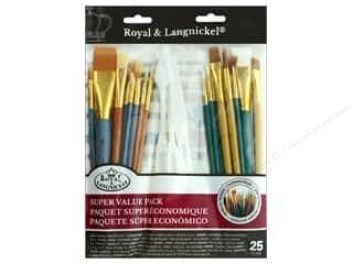 Paint Brush Set: Royal Super Value Paint Brush Pack 25 pc. Variety