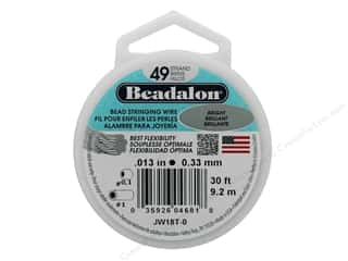 "beading & jewelry making supplies: Beadalon Bead Wire 49 Strand .013"" Bright 30'"