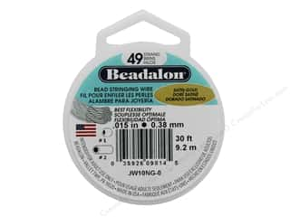 "Beadalon Bead Wire 49 Strand .015"" Satin Gold 30'"