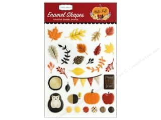 stickers: Carta Bella Collection Hello Fall Enamel Shapes