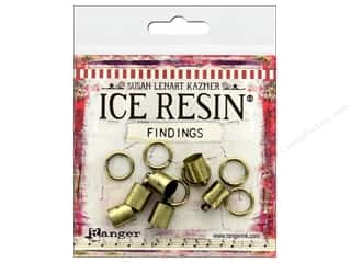 beading & jewelry making supplies: Ranger ICE Resin Findings Cap 7mm/Ring 10mm Bronze