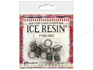 beading & jewelry making supplies: Ranger ICE Resin Findings Cap 7mm/Ring 10mm Silver