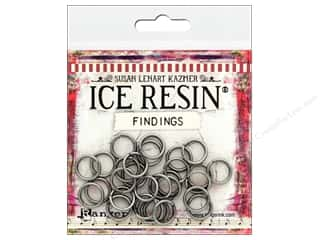 beading & jewelry making supplies: Ranger ICE Resin Findings Jump Rings Antique Silver