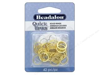 beading & jewelry making supplies: Beadalon Quick Links Round 12mm Gold Plate 42pc