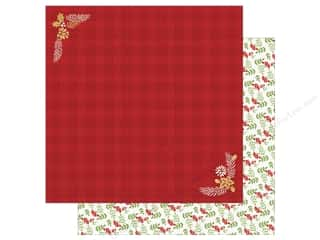 "Paper House Collection Christmas Cheer Paper 12""x 12"" Red Flannel (15 pieces)"