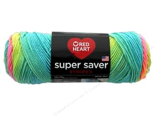 yarn & needlework: Red Heart Super Saver Yarn 236 yd. #4971 Retro Stripe