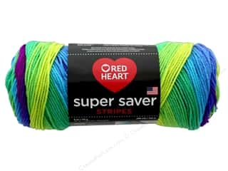 Red Heart Super Saver Yarn 236 yd. #4968 Parrot Stripe
