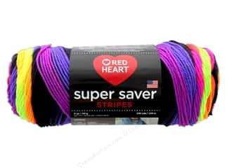 Red Heart Super Saver Yarn 236 yd. #4970 Bright Stripe
