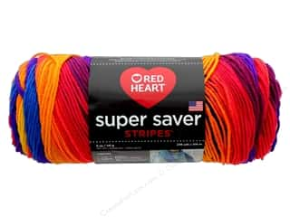 Red Heart Super Saver Yarn 236 yd. #4965 Favorite Stripe