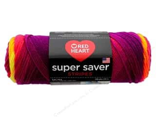 Yarn: Red Heart Super Saver Yarn 236 yd. #4962 Fruity Stripe
