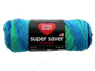 yarn: Red Heart Super Saver Yarn 236 yd. #4967 Cool Stripe