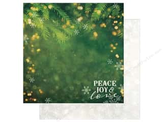 "christmas paper: Paper House Collection Christmas Joy Paper 12""x 12"" Peace Joy Love (15 pieces)"