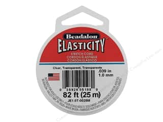 beaded elastic: Beadalon Elasticity 1.0mm Clear 25M