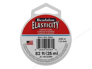 beaded elastic: Beadalon Elasticity 1.0mm Black  25M