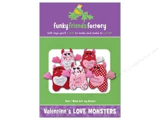 books & patterns: Funky Friends Factory Valentine's Love Monsters Pattern