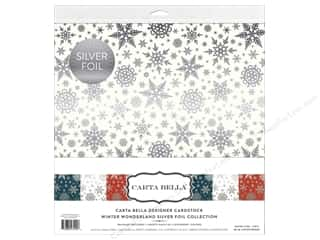 "scrapbooking & paper crafts: Carta Bella Collection Winter Wonderland Collection Kit 12""x 12"" Silver Foil"