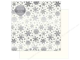 "scrapbooking & paper crafts: Carta Bella Collection Winter Wonderland Paper 12""x 12"" Foil White (25 pieces)"