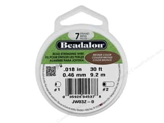 "beading & jewelry making supplies: Beadalon Bead Wire 7 Strand .018"" Bronze Color 30'"