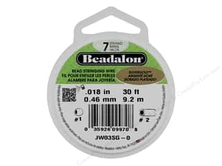 "beading & jewelry making supplies: Beadalon Bead Wire 7 Strand .018"" SilverGold 30'"