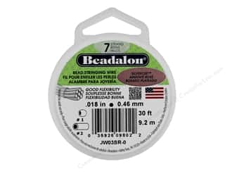 "beading & jewelry making supplies: Beadalon Bead Wire 7 Strand .018"" SilverRose 30'"
