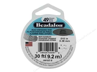 "Beadalon Bead Wire 49 Strand .015"" Bright 30'"