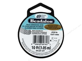 "beading & jewelry making supplies: Beadalon Bead Wire 49 Strand .024"" 24K Gold Plated 10'"