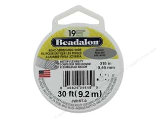 beading & jewelry making supplies: Beadalon Bead Wire 19 Strand .018 in. Bright 30 ft.