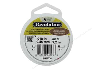 "beading & jewelry making supplies: Beadalon Bead Wire 19 Strand .018"" Bronze Color 30'"