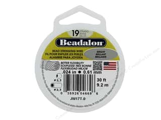 "Beadalon Bead Wire 19 Strand .024"" Bright 30'"