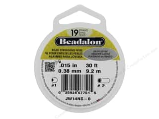 beading & jewelry making supplies: Beadalon Bead Wire 19 Strand .015 in. Satin Silver 30 ft.