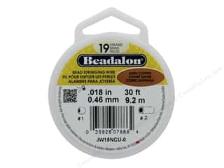 seed beads: Beadalon Bead Wire 19 Strand .018 in. Satin Copper 30 ft.