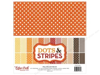 Echo Park Collection Dots & Stripes Fall Collection Kit 12 in. x 12 in.