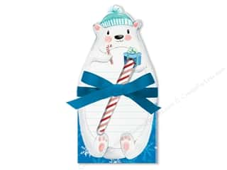 die cuts: Lady Jayne Note Pad Holiday Die Cut With Pen Polar Bear