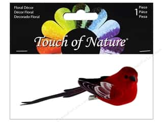 "decorative bird: Midwest Design Birds 4.5"" Paper Wing Red 1pc"