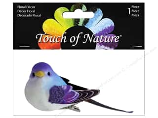 "floral & garden: Midwest Design Birds 3.5"" Paper Wing Purple/Blue 1pc"