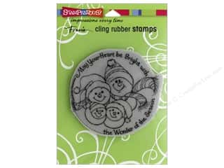 stamp cleaner: Stampendous Cling Rubber Stamp Snowman Season