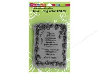 Holiday Sale Stampendous Cling Rubber Stamp: Stampendous Cling Rubber Stamp Pinecone Greeting