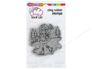 stamp cleaner: Stampendous Cling Rubber Stamp Whisper Friends Ice Skater